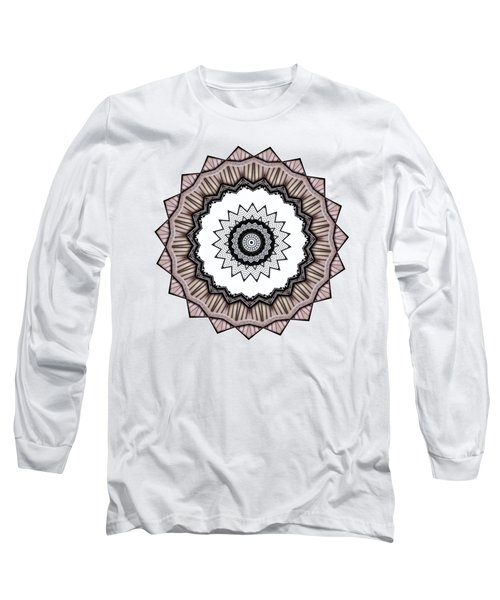 Construction Mandala By Kaye Menner Long Sleeve T-Shirt by Kaye Menner