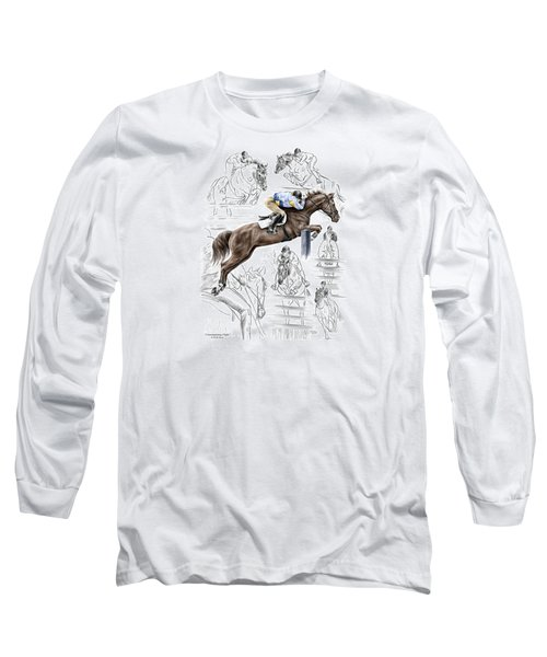 Contemplating Flight - Horse Jumper Print Color Tinted Long Sleeve T-Shirt by Kelli Swan
