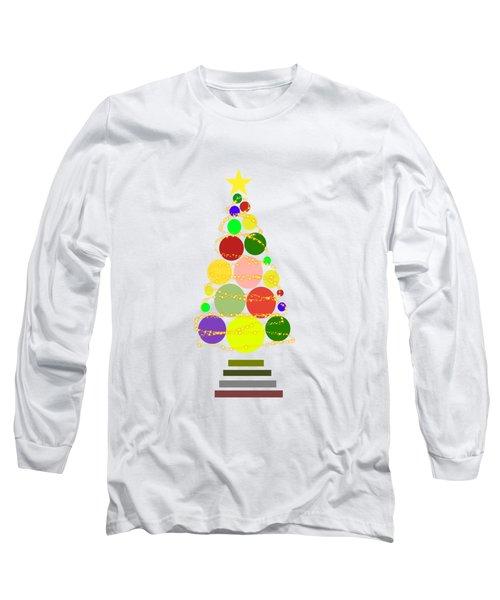 Contemporary Christmas Long Sleeve T-Shirt by Kathleen Sartoris