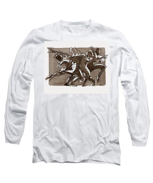 Contemporary Dance Quartet - Lucky Plush, Chicago Long Sleeve T-Shirt