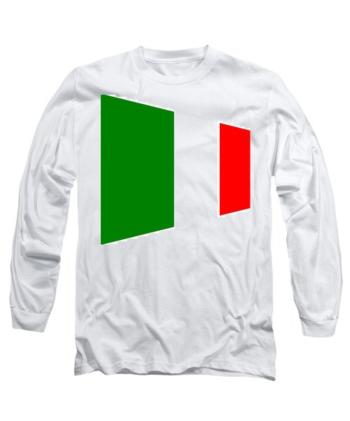 contemporary Italian Flag Long Sleeve T-Shirt