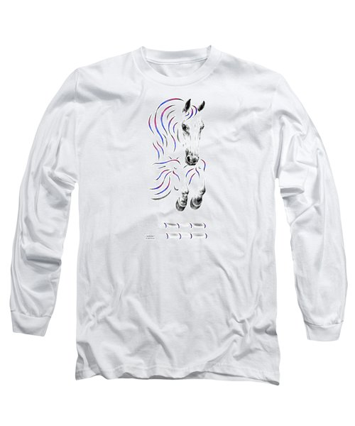 Contemporary Jumper Horse Long Sleeve T-Shirt by Kelli Swan