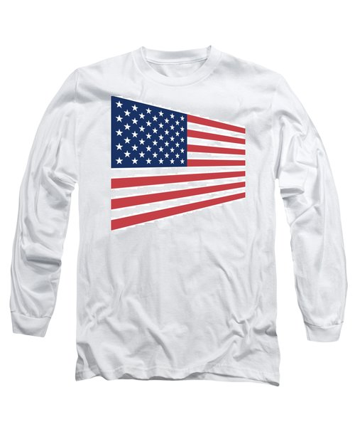 Contemporaryusa Flag Long Sleeve T-Shirt