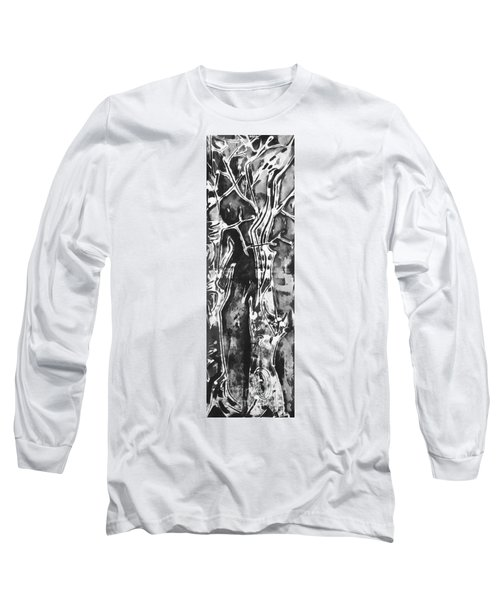 Long Sleeve T-Shirt featuring the painting Convenor by Carol Rashawnna Williams