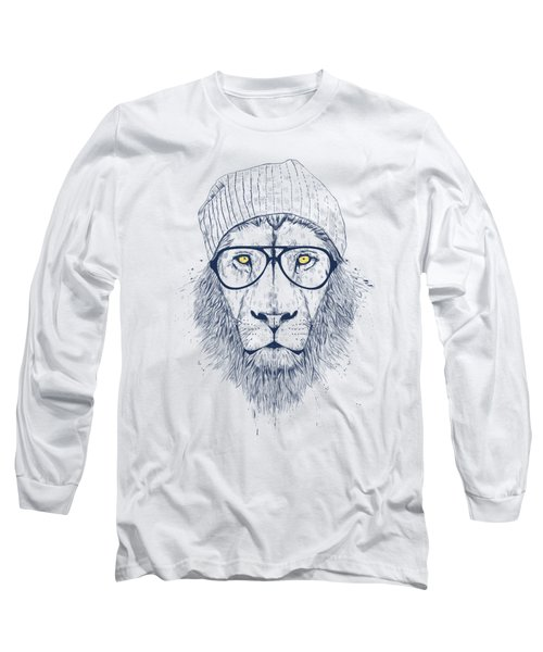 Cool Lion Long Sleeve T-Shirt by Balazs Solti
