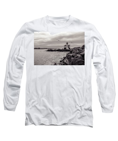 Coquille Lighthouse Oregon  Long Sleeve T-Shirt