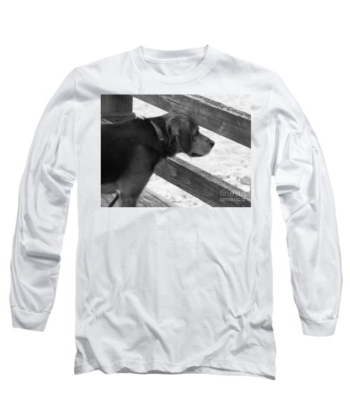Corby In B And W Long Sleeve T-Shirt by Erick Schmidt