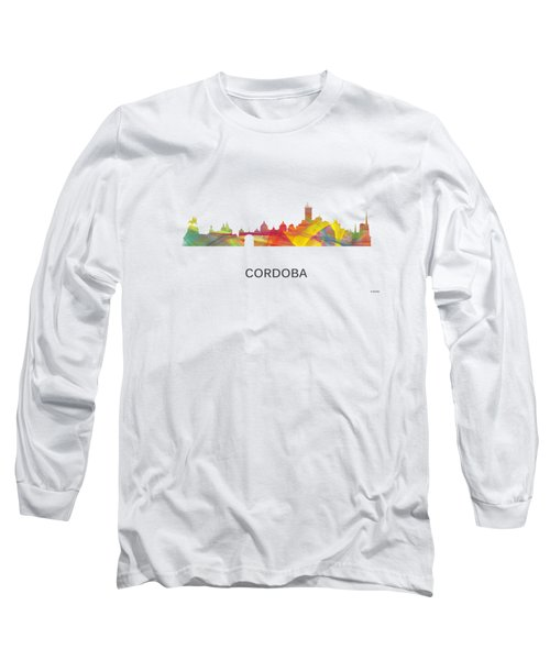 Cordoba Argentina Skyline Long Sleeve T-Shirt