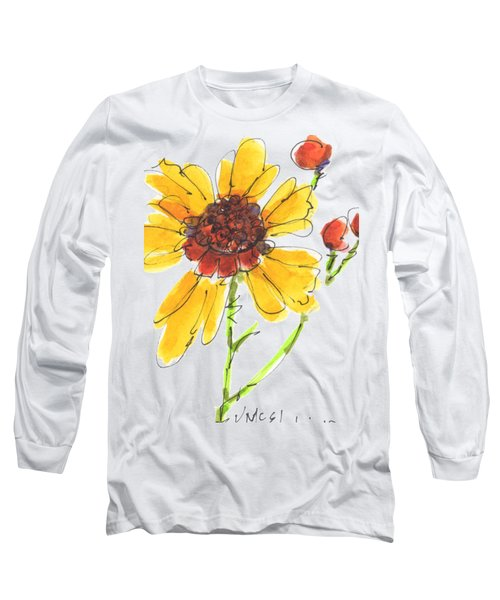 Coreopsis By Kathleen Mcelwaine Long Sleeve T-Shirt