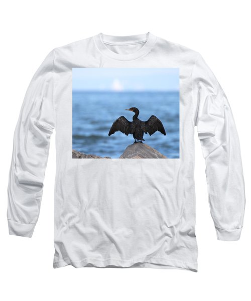 Cormorant Port Jefferson New York Long Sleeve T-Shirt