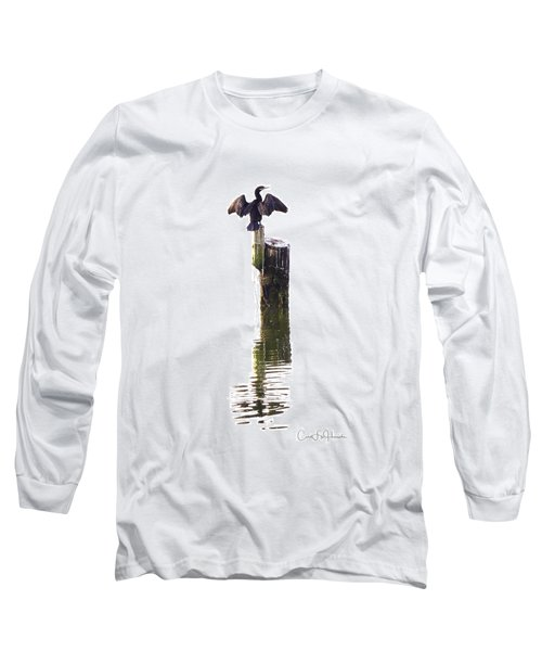 Cormorant Sunning Long Sleeve T-Shirt