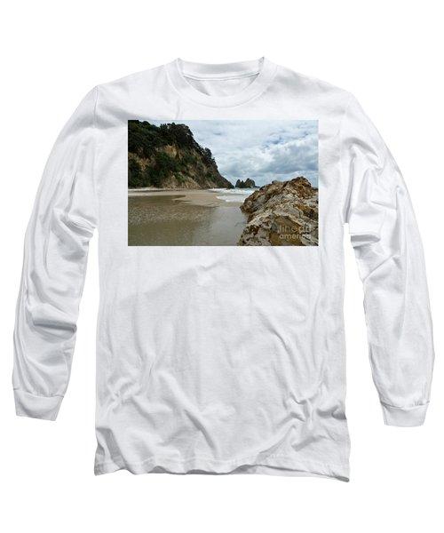 Coromandel, New Zealand Long Sleeve T-Shirt by Yurix Sardinelly