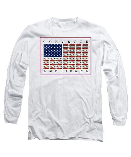 Corvette Americana Long Sleeve T-Shirt