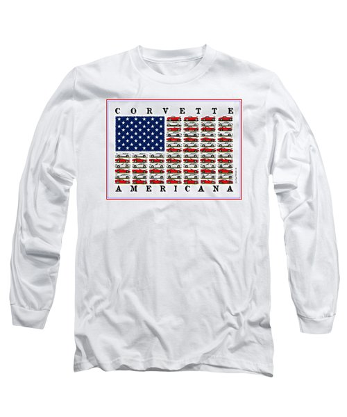 Corvette Americana Long Sleeve T-Shirt