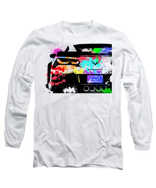 Corvette Pop Art 1 Long Sleeve T-Shirt