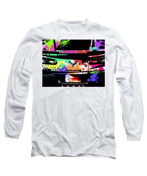 Corvette Pop Art 2 Long Sleeve T-Shirt