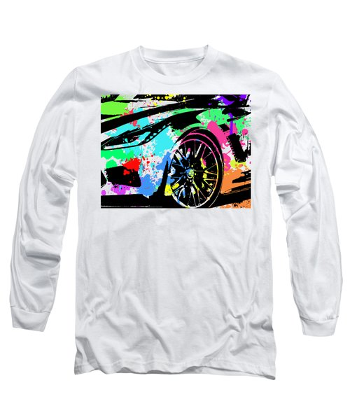 Corvette Pop Art 3 Long Sleeve T-Shirt