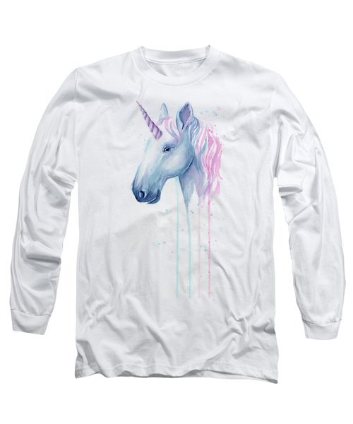Cotton Candy Unicorn Long Sleeve T-Shirt