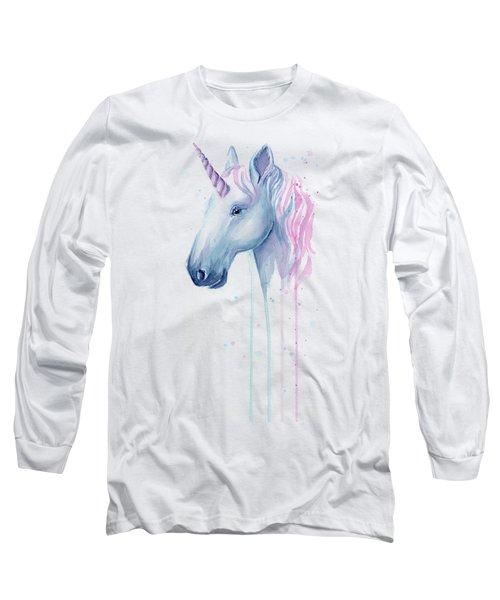 Cotton Candy Unicorn Long Sleeve T-Shirt