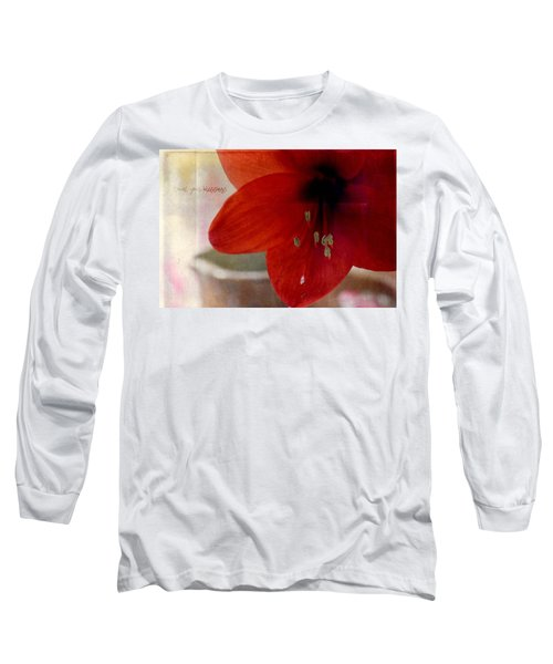 Count Your Blessings Long Sleeve T-Shirt by Robin Dickinson