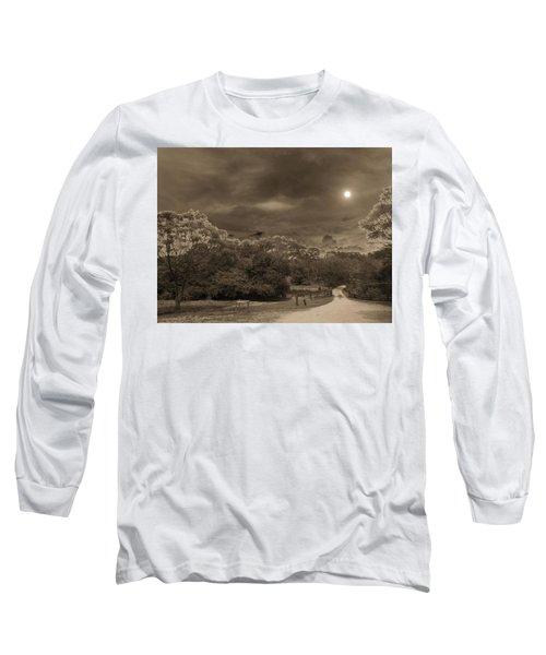 Long Sleeve T-Shirt featuring the photograph Country Moonlight by Beto Machado