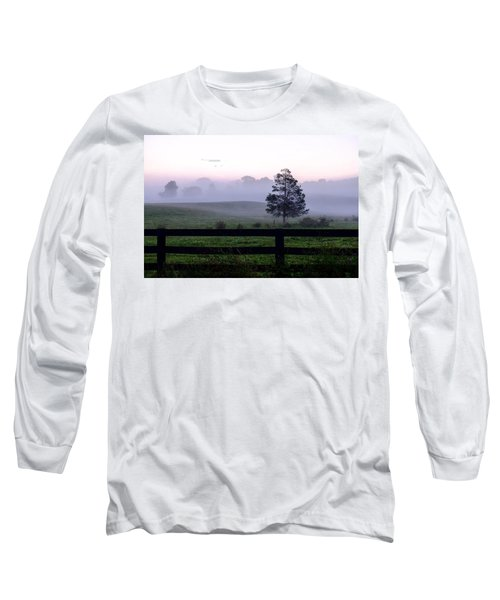 Country Morning Fog Long Sleeve T-Shirt