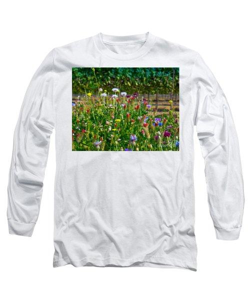 Country Wildflowers II Long Sleeve T-Shirt