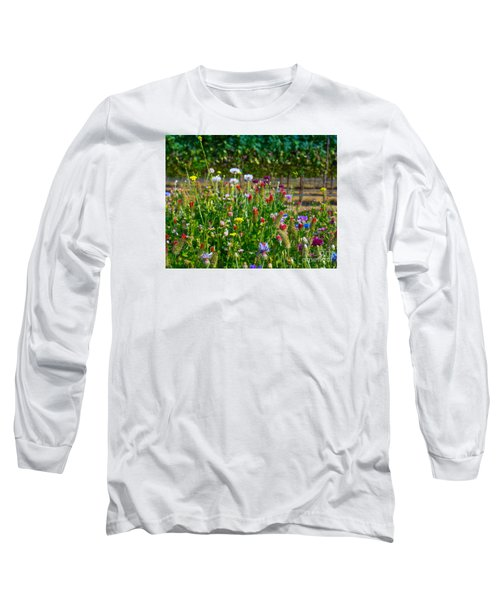 Country Wildflowers II Long Sleeve T-Shirt