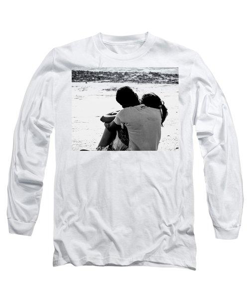 Couple On Beach Long Sleeve T-Shirt