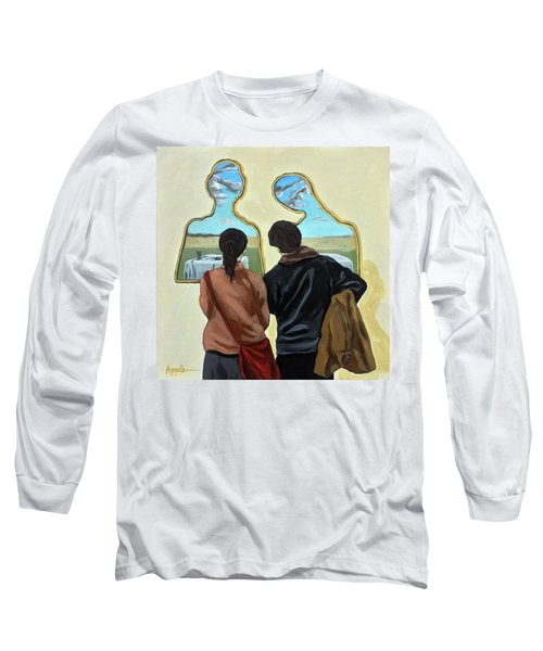 Couple With Their Heads Full Of Clouds Long Sleeve T-Shirt