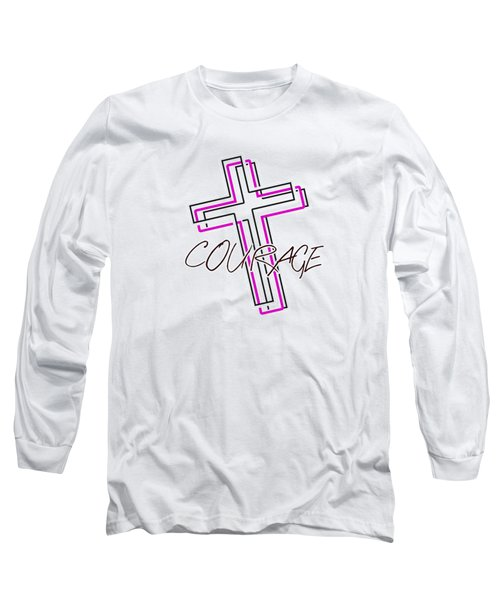Courage And The Cross N Long Sleeve T-Shirt