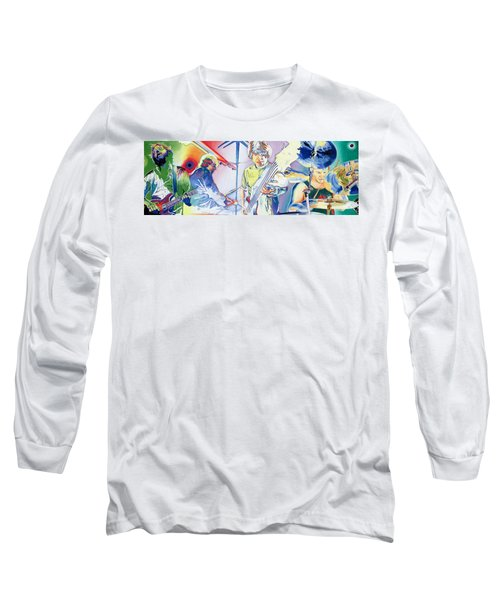Long Sleeve T-Shirt featuring the drawing Coventry Phish by Joshua Morton