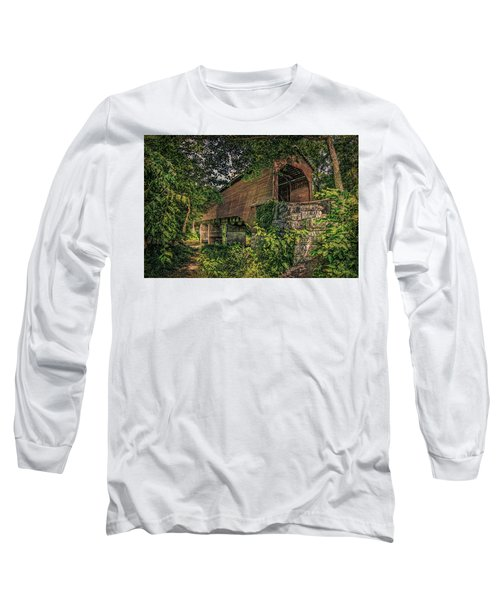 Long Sleeve T-Shirt featuring the photograph Covered Bridge by Lewis Mann