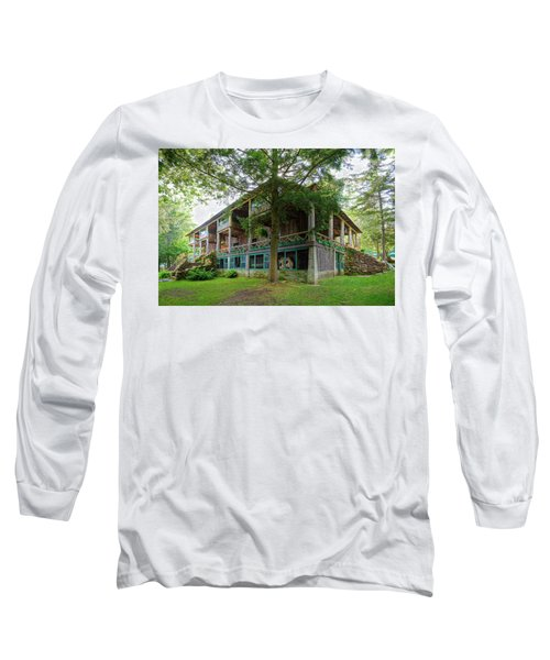 Long Sleeve T-Shirt featuring the photograph Covewood Lodge On Big Moose Lake by David Patterson