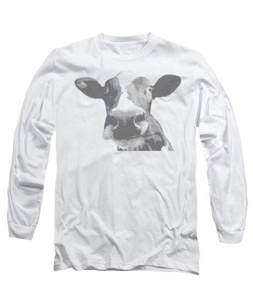 Cow - Cross Hatching Long Sleeve T-Shirt