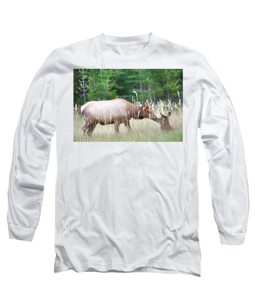 Cow Elk And Spring Baby Long Sleeve T-Shirt