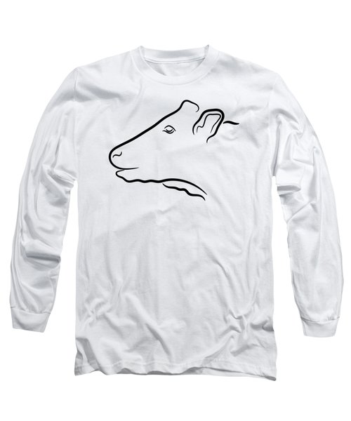 Cow Head Illustration Long Sleeve T-Shirt