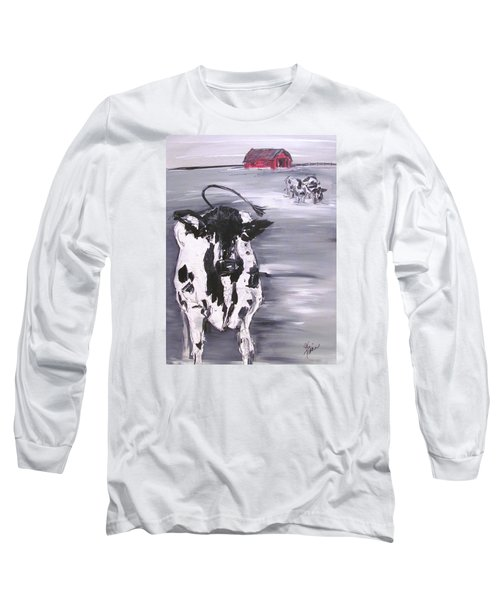 Cow In Winter Long Sleeve T-Shirt