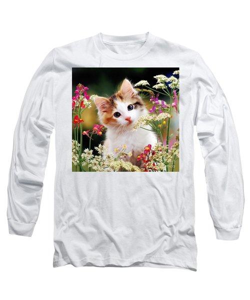 Cow Parsley Cat Long Sleeve T-Shirt