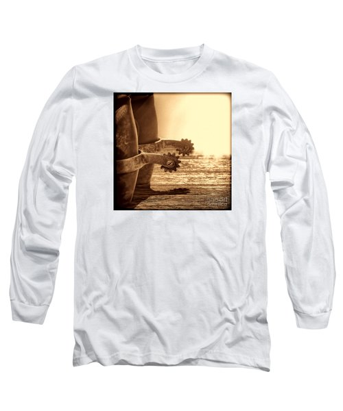 Cowboy Boots And Riding Spurs Long Sleeve T-Shirt by American West Legend By Olivier Le Queinec