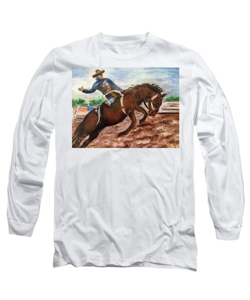 Cowboy In A Rodeo Long Sleeve T-Shirt