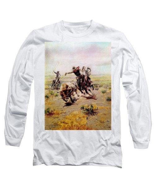 Cowboy Roping A Steer Long Sleeve T-Shirt