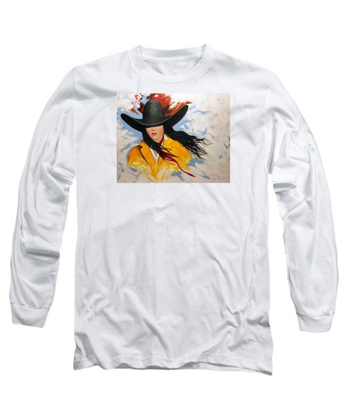 Cowgirl Colors #3 Long Sleeve T-Shirt by Lance Headlee