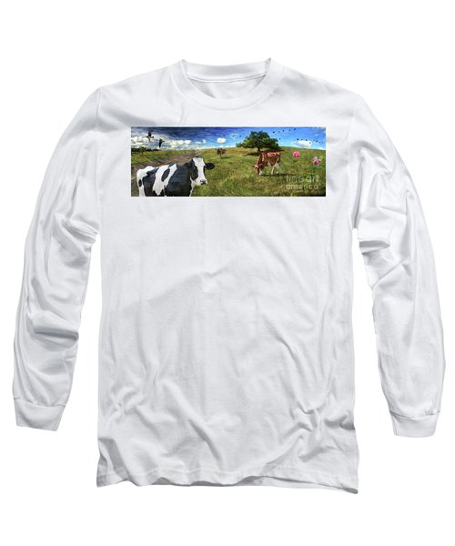 Cows In Field, Ver 3 Long Sleeve T-Shirt