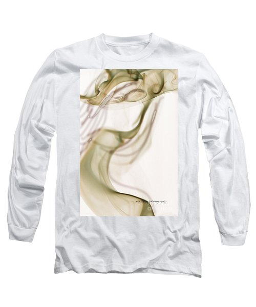 Long Sleeve T-Shirt featuring the photograph Coy Lady In Hat Swirls by Vicki Ferrari
