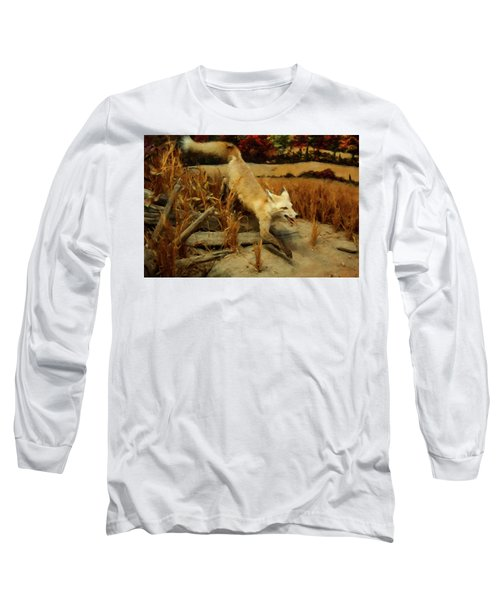 Long Sleeve T-Shirt featuring the digital art Coyote  by Chris Flees