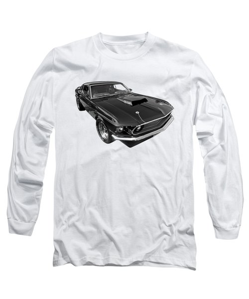 Coz I Can Black And White Long Sleeve T-Shirt