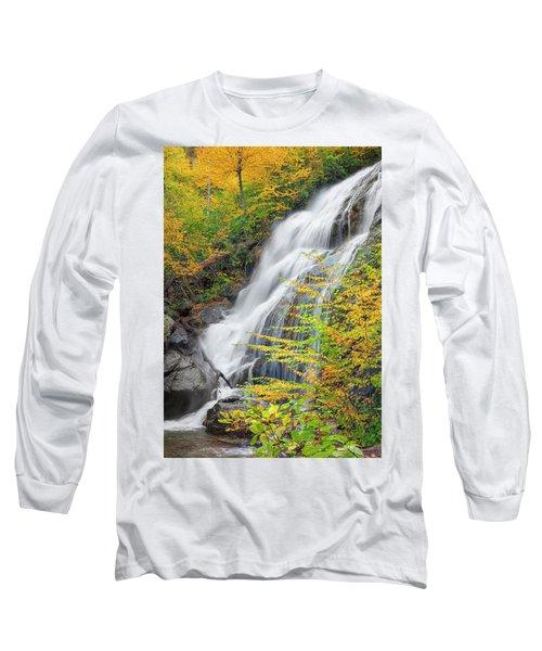 Crabtree Falls In The Fall Long Sleeve T-Shirt by David Cote