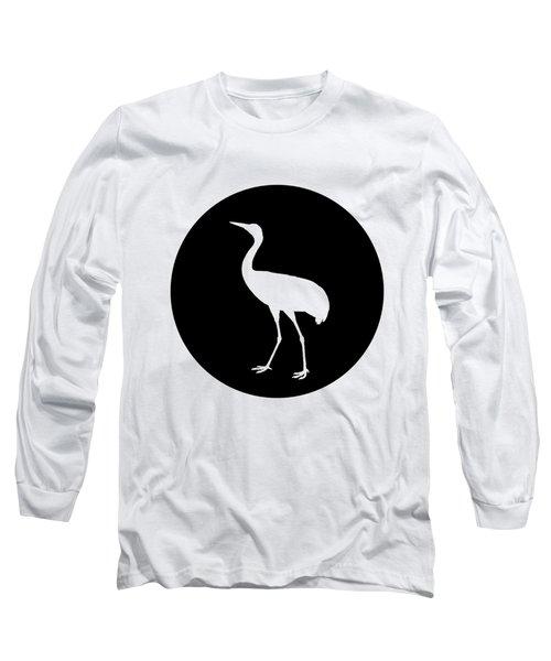 Crane Long Sleeve T-Shirt by Mordax Furittus