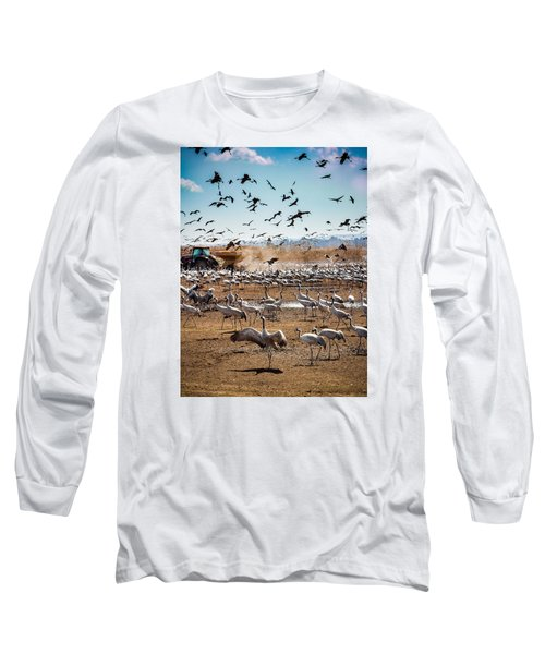 Cranes Feeding Long Sleeve T-Shirt